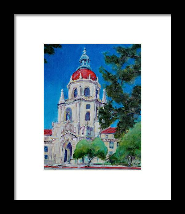 Pasadena. Historic Framed Print featuring the painting City Hall by Richard Willson