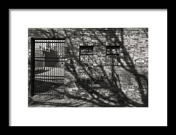 Black Framed Print featuring the photograph 'city Jail' by Adam M Dee