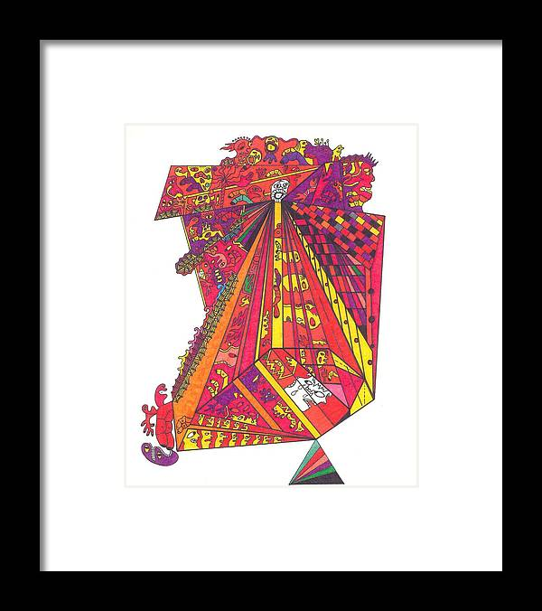 City Framed Print featuring the drawing City Life by Eric Devan