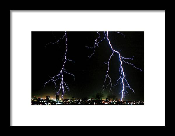 Arizona Framed Print featuring the photograph City Lights by Cathy Franklin