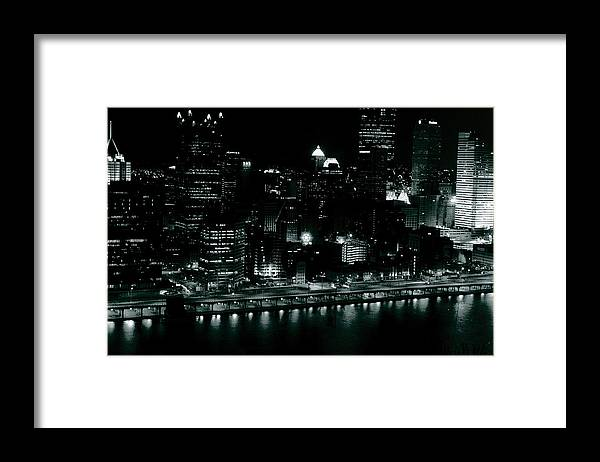 Landscape Framed Print featuring the photograph City Lights by Chaz McDowell