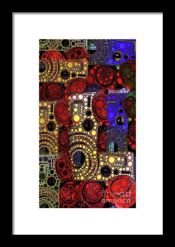 Abstract Framed Print featuring the digital art City Lights by Ron Bissett