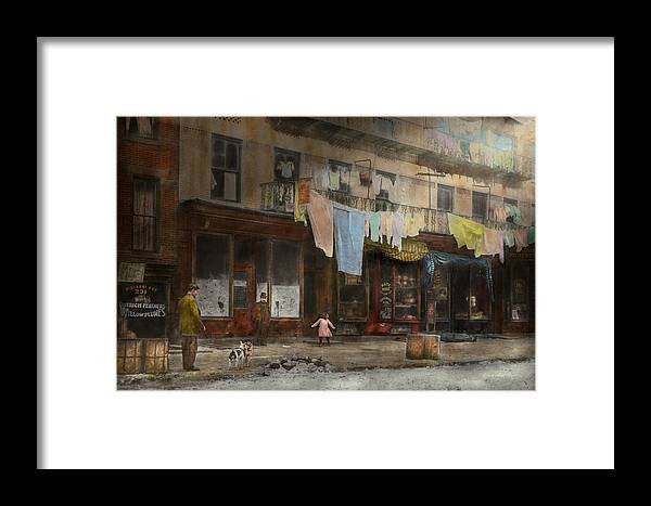 Self Framed Print featuring the photograph City - Ny - Elegant Apartments - 1912 by Mike Savad