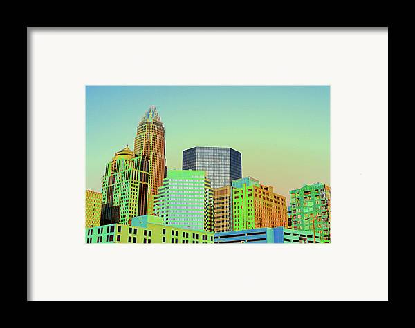 Charlotte Framed Print featuring the photograph City Of Colors by Karol Livote