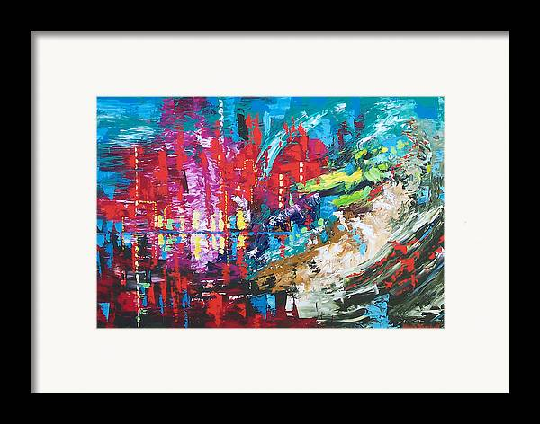Abstract Framed Print featuring the painting City Of Oz by Claude Marshall