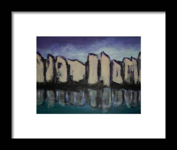 Abstract Framed Print featuring the painting City of spirits by Joseph Ferguson