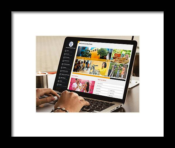 Responsive Website Design Framed Print featuring the photograph City Pulse - Dynamic And Resonsive Website Design by KCS ITGlobal