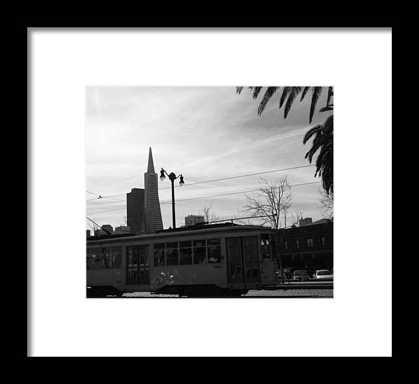 Black And White Framed Print featuring the photograph City Rail by Joshua Sunday
