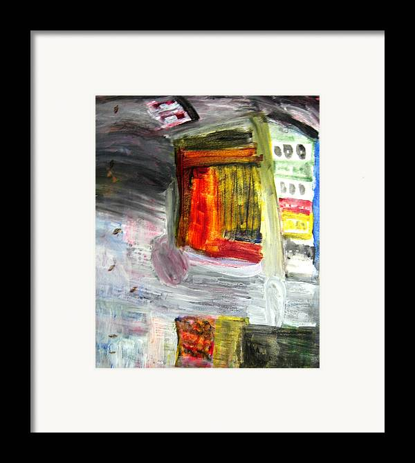 City Framed Print featuring the painting City by Todd Dehart