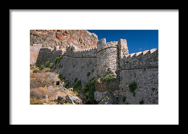 Photography Framed Print featuring the photograph City Walls Of Monemvassia by Dvir Barkay