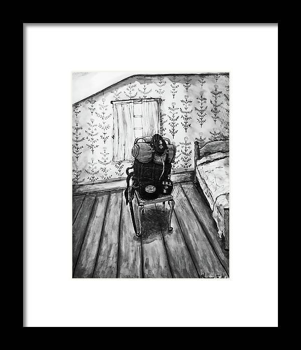 Civil War Framed Print featuring the mixed media Rhode Island Civil War, Vacant Chair by Monique Faella