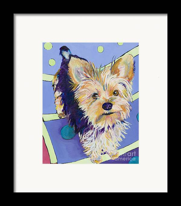 Pet Portraits Framed Print featuring the painting Claire by Pat Saunders-White