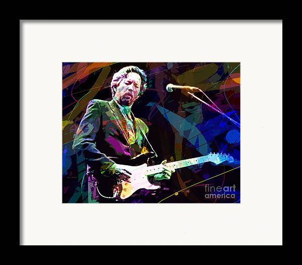 Eric Clapton Framed Print featuring the painting Clapton Live by David Lloyd Glover