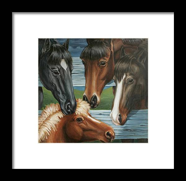 Pony Framed Print featuring the painting Claras Pony by Colleen Maas-Pastore