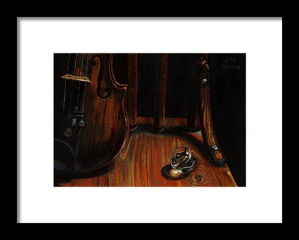 Violin Framed Print featuring the pastel Clarity by Keith Gantos