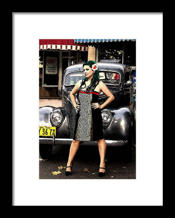 Girl Woman Car Classic Framed Print featuring the photograph Classic Body by Lawrence Costales