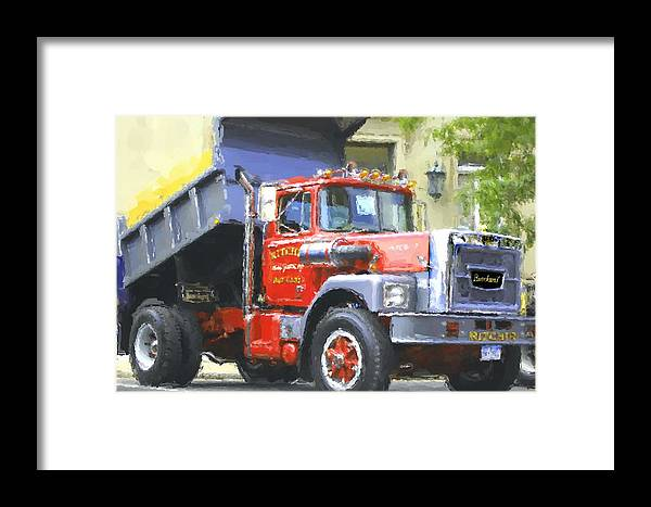 Brockway Framed Print featuring the photograph Classic Brockway Dump Truck by David Lane