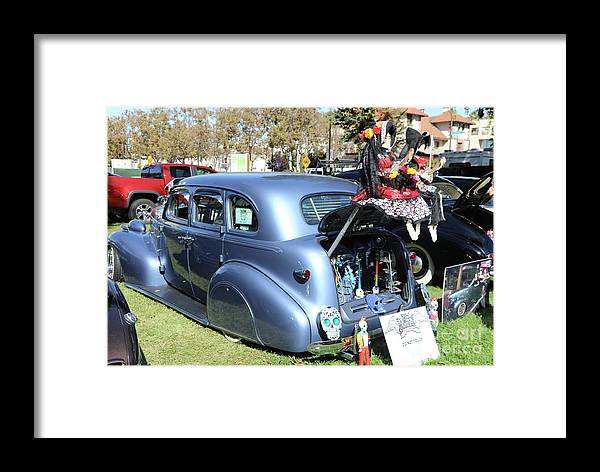 Dia De Los Muertos Framed Print featuring the photograph Classic Car Decorations Day Dead by Chuck Kuhn