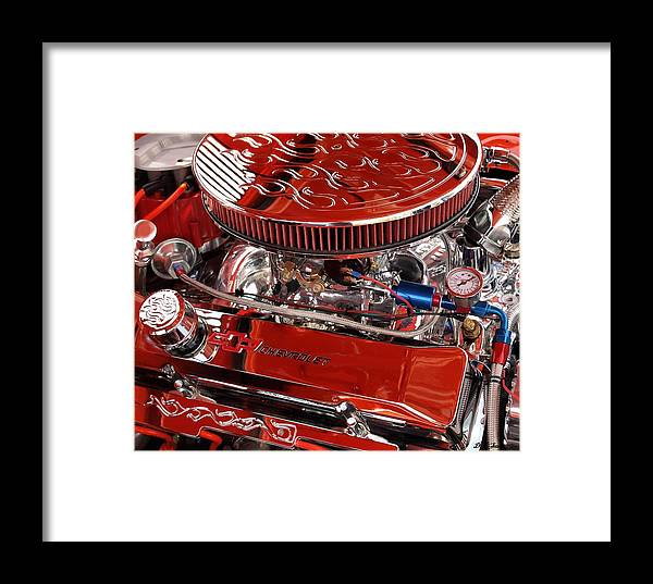 Chevrolet Framed Print featuring the photograph Classic Chevrolet Engine by Dennis Stein