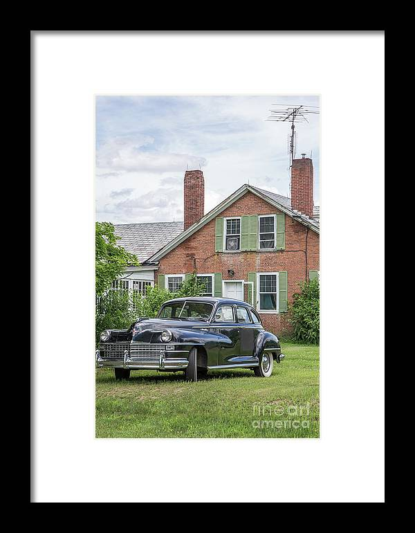 Car Framed Print featuring the photograph Classic Chrysler 1940s Sedan by Edward Fielding