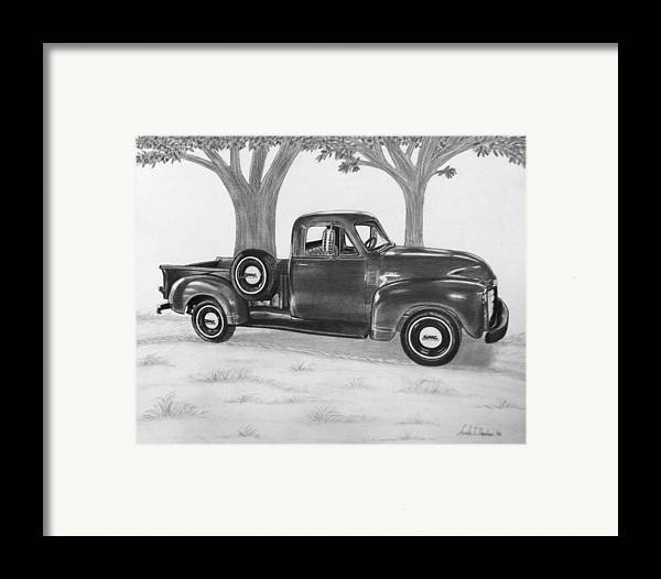 Truck Framed Print featuring the drawing Classic Gmc Truck by Nicole I Hamilton