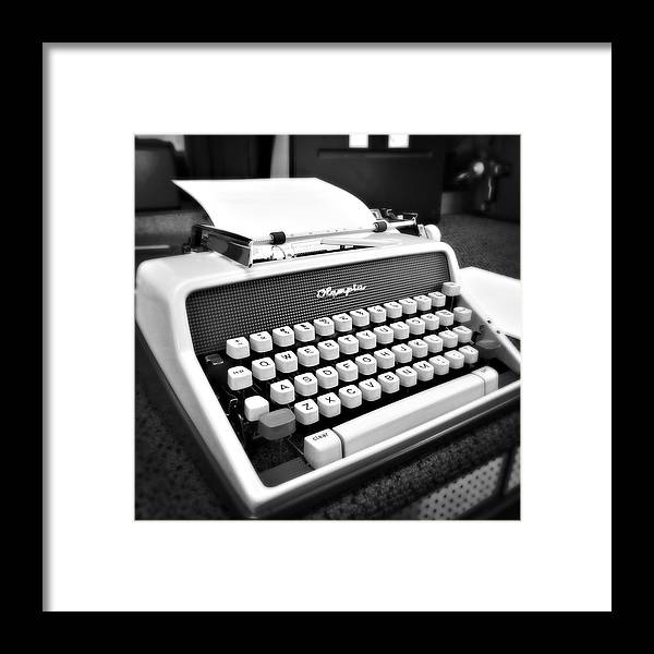 Typewriter Framed Print featuring the photograph Classic by Joanne Riske