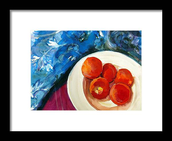 Still Life Framed Print featuring the painting Classic Peaches by Doranne Alden