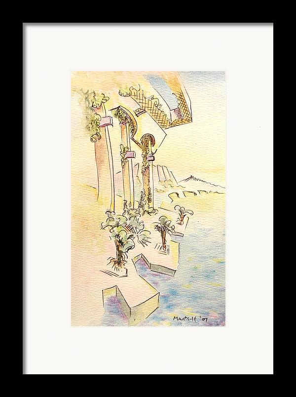 Italian Framed Print featuring the painting Classic Summer Morning by Dave Martsolf