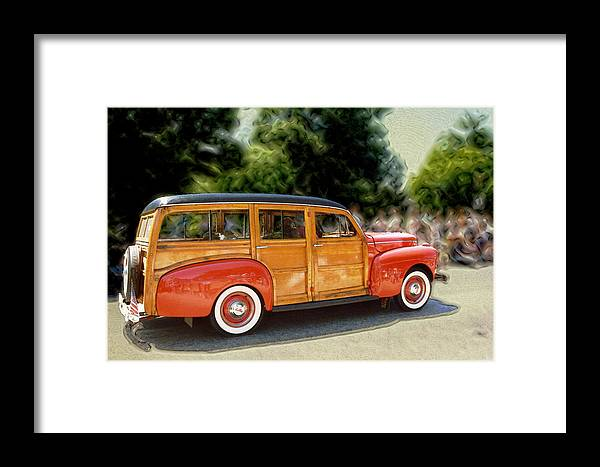 Classic Automobile Framed Print featuring the photograph Classic Woody Station Wagon by Roger Soule