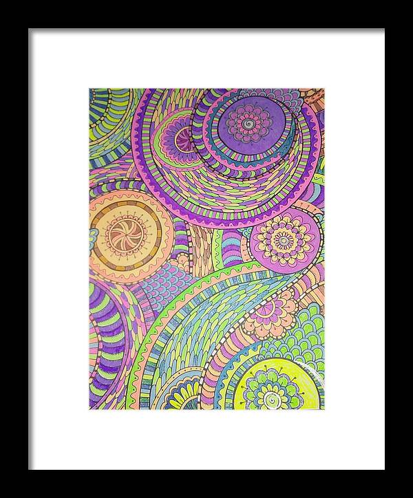 Pastels Framed Print featuring the drawing Classy Paisley by FN Nelson