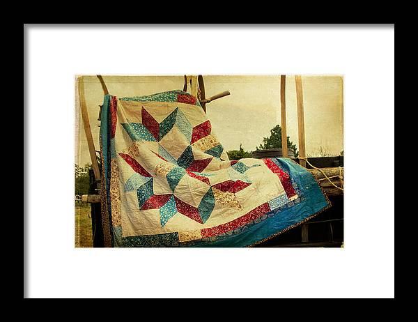 Quilt Framed Print featuring the photograph Claude's Centennial Quilt by Toni Hopper