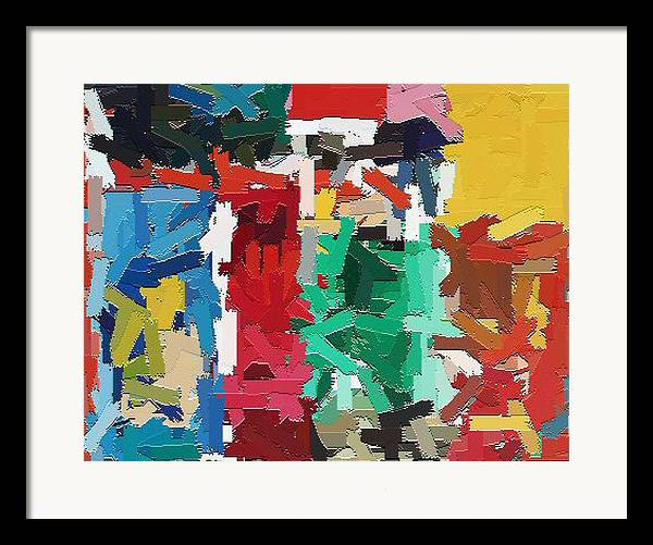 Abstract Framed Print featuring the painting Cleaning The Palette by Don Phillips