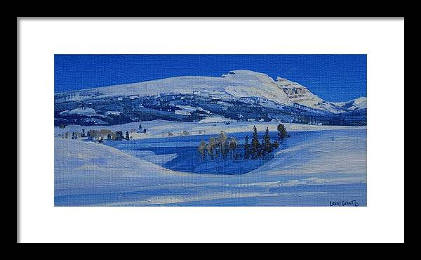 Landscape Framed Print featuring the painting Clear And Cold by Lanny Grant