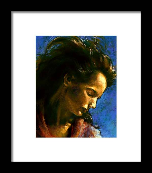 Figurative Framed Print featuring the digital art Clear Blue 2 by Stuart Gilbert
