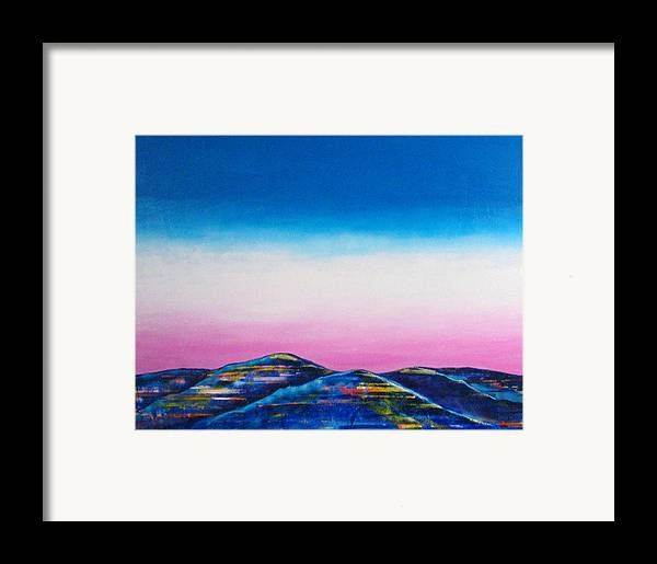 Sky Framed Print featuring the painting Clear Day by Rollin Kocsis