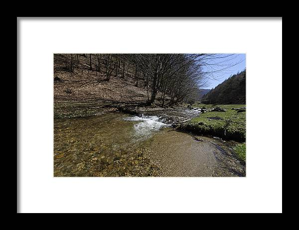 Above Framed Print featuring the photograph Clear water Shteaza near Rasinari by Adrian Bud