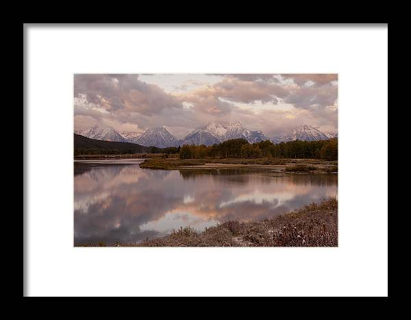 Grand Teton Framed Print featuring the photograph Clearing Storm At Oxbow Bend by Sandra Bronstein