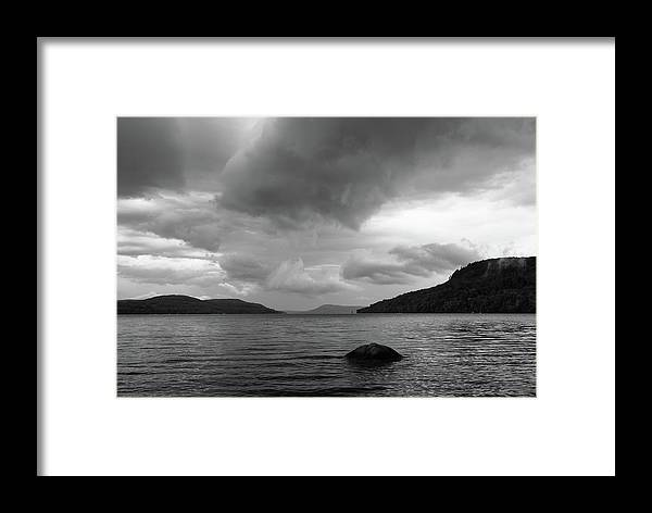Cooperstown Framed Print featuring the photograph Clearing Storm, Lake Otsego by Jeff Kantorowski