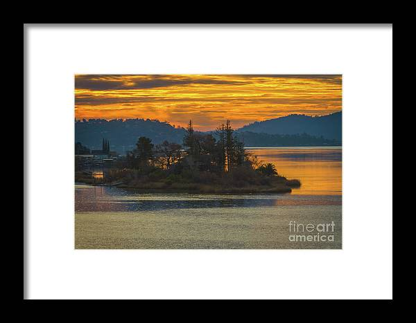Clearlake Gold Framed Print featuring the photograph Clearlake Gold by Mitch Shindelbower