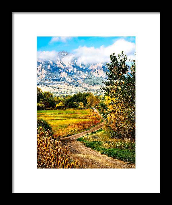 Americana Framed Print featuring the photograph Clearly Colorado by Marilyn Hunt