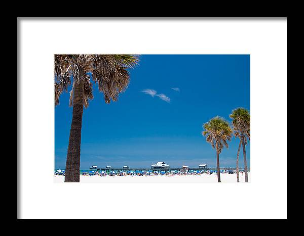 3scape Framed Print featuring the photograph Clearwater Beach by Adam Romanowicz