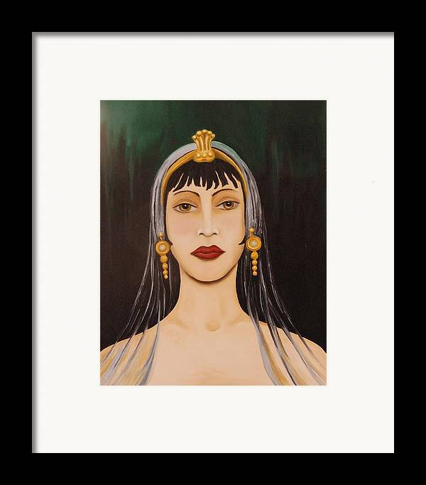Tiara Framed Print featuring the painting Cleo by Leah Saulnier The Painting Maniac