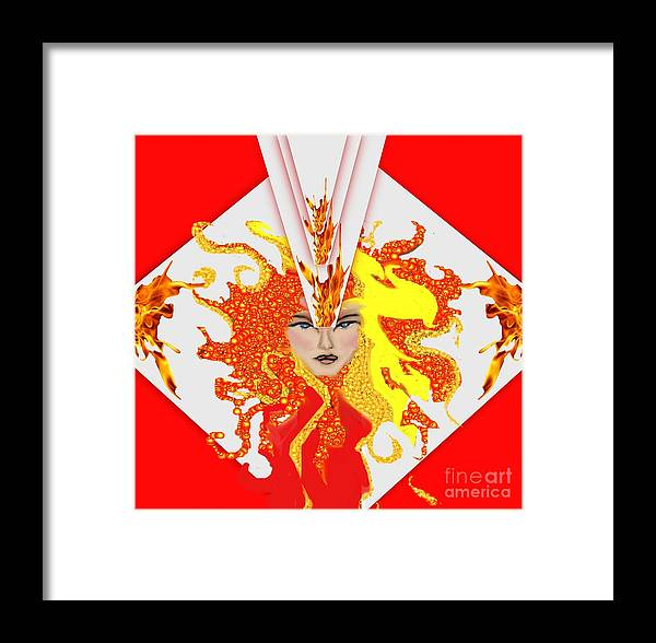 Queen Framed Print featuring the painting Cleopetra, by Belinda Threeths
