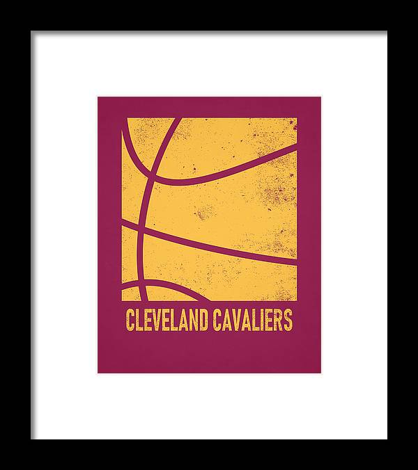 Cavaliers Framed Print featuring the mixed media Cleveland Cavaliers City Poster Art 2 by Joe Hamilton