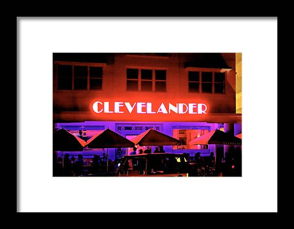 Architecture Framed Print featuring the photograph Clevelander Hotel Ocean Boulevard Miami Beach by George Oze