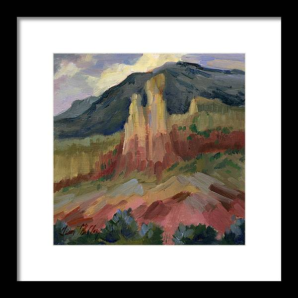 Cliff Chimneys at Georgia O'Keeffe's Ghost Ranch by Diane McClary