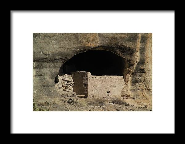 Gila Framed Print featuring the photograph Cliff Dwelling Of Gila by Harry Noble