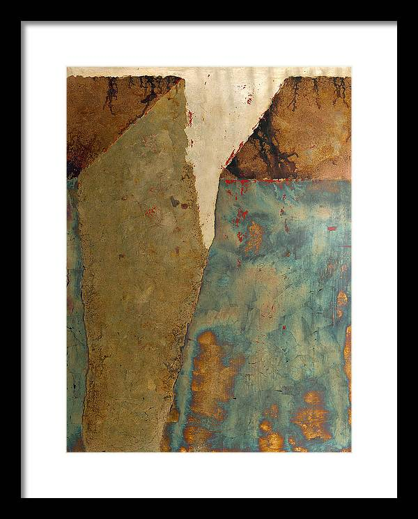Large Scale Landscape  Framed Print featuring the painting Cliff Two by Wayne Berger