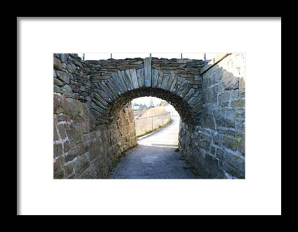 Cliff Walk Framed Print featuring the photograph Cliff Walk Bridge by Debbie Storie