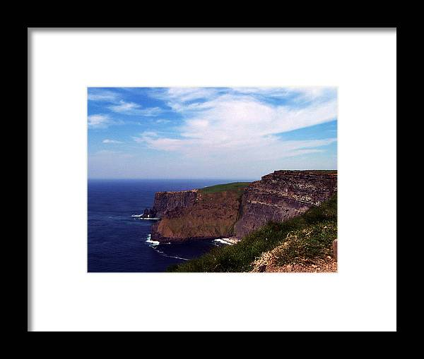 Irish Framed Print featuring the photograph Cliffs of Moher Aill Na Searrach Ireland by Teresa Mucha